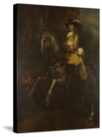 Portrait of Frederick Rihel on Horseback, Ca 1663-Rembrandt van Rijn-Stretched Canvas Print