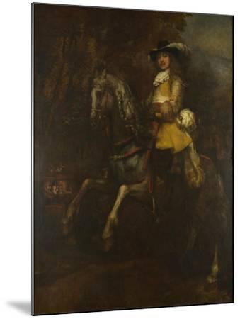 Portrait of Frederick Rihel on Horseback, Ca 1663-Rembrandt van Rijn-Mounted Giclee Print