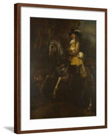 Portrait of Frederick Rihel on Horseback, Ca 1663-Rembrandt van Rijn-Framed Giclee Print