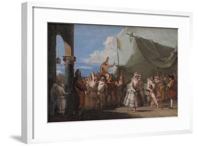 The Triumph of Pulcinella, 1760-1770-Giandomenico Tiepolo-Framed Giclee Print