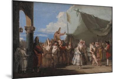 The Triumph of Pulcinella, 1760-1770-Giandomenico Tiepolo-Mounted Giclee Print