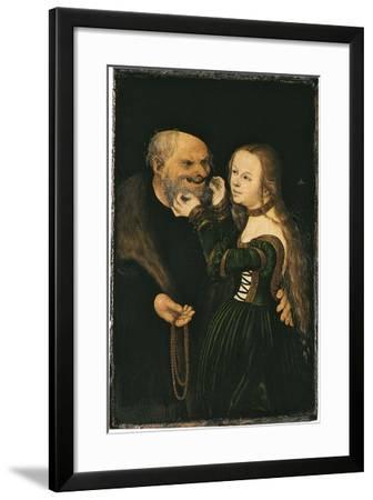 The Unequal Couple, Ca 1530-Lucas Cranach the Elder-Framed Giclee Print