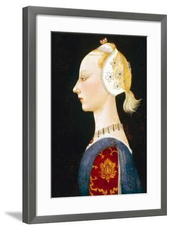 A Young Lady of Fashion, 1462-1465-Paolo Uccello-Framed Giclee Print