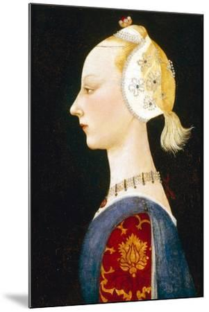 A Young Lady of Fashion, 1462-1465-Paolo Uccello-Mounted Giclee Print