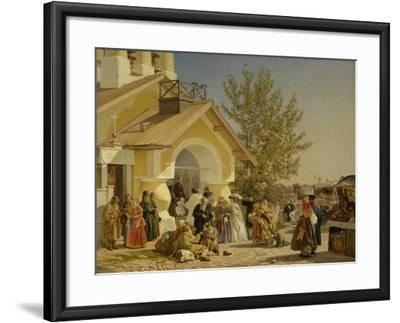 Coming Out of a Church in Pskov, 1864-Alexander Ivanovich Morozov-Framed Giclee Print