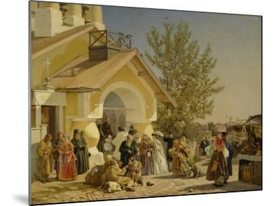 Coming Out of a Church in Pskov, 1864-Alexander Ivanovich Morozov-Mounted Giclee Print