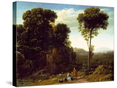 Pastoral Landscape with a Mill, 1634-Claude Lorraine-Stretched Canvas Print