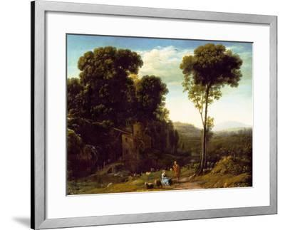 Pastoral Landscape with a Mill, 1634-Claude Lorraine-Framed Giclee Print