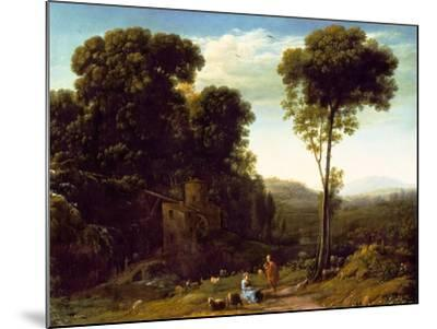 Pastoral Landscape with a Mill, 1634-Claude Lorraine-Mounted Giclee Print