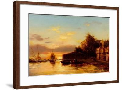 View of Istanbul, Second Half of the 19th C-Felix-Francois George Ziem-Framed Giclee Print