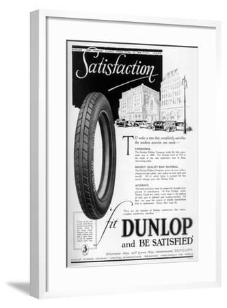 Dunlop Advertisment, 1923--Framed Giclee Print