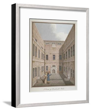 Blackwell Hall, City of London, 1819--Framed Giclee Print