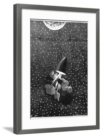 Jules Verne (1828-190), Autour De La Lune, 1865--Framed Giclee Print