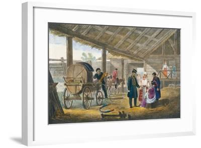 The Inn on the Roadside, 1820-Alexander Pluchart-Framed Giclee Print