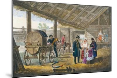 The Inn on the Roadside, 1820-Alexander Pluchart-Mounted Giclee Print