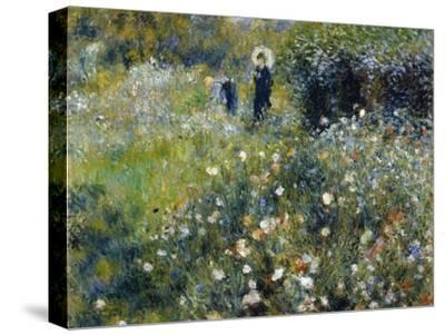 Woman with a Parasol in a Garden, 1875-Pierre-Auguste Renoir-Stretched Canvas Print