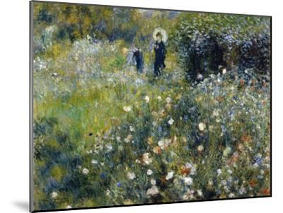 Woman with a Parasol in a Garden, 1875-Pierre-Auguste Renoir-Mounted Premium Giclee Print