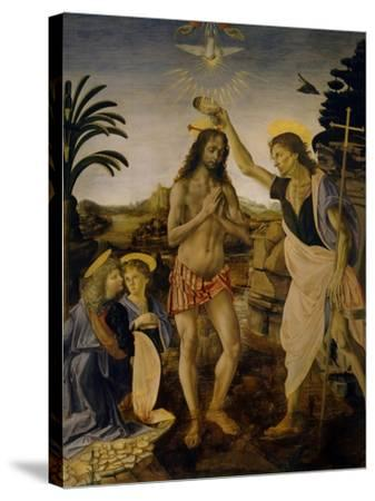 The Baptism of Christ, Ca 1470-1475-Leonardo da Vinci-Stretched Canvas Print