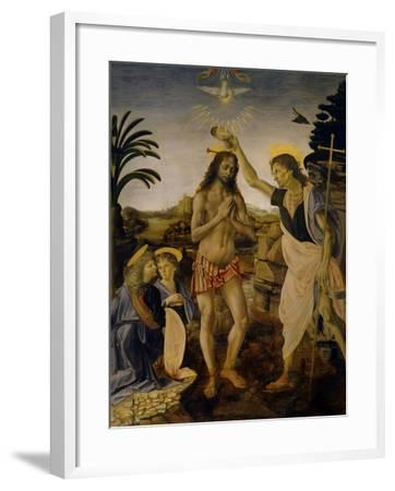 The Baptism of Christ, Ca 1470-1475-Leonardo da Vinci-Framed Giclee Print