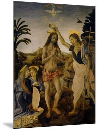 The Baptism of Christ, Ca 1470-1475-Leonardo da Vinci-Mounted Giclee Print