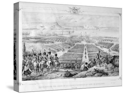 Distribution of the Crosses of the Legion of Honor at the Camp of Boulogne, 16 August 1804, 1841--Stretched Canvas Print
