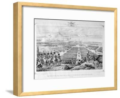 Distribution of the Crosses of the Legion of Honor at the Camp of Boulogne, 16 August 1804, 1841--Framed Giclee Print