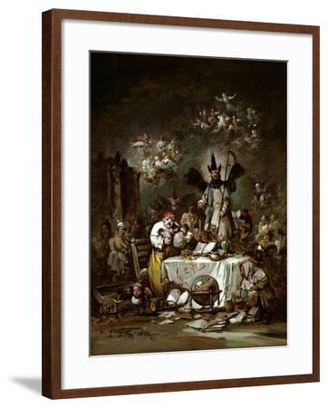 Allegorical Caprice. the Avarice, 1852-Eugenio Lucas Velázquez-Framed Giclee Print