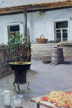 Jam Cooking, 1892-Jakov Jakovlevich Kalinichenko-Stretched Canvas Print