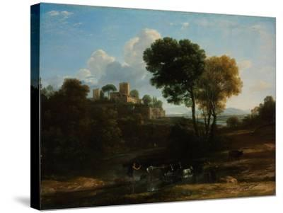 Villa in the Roman Campagna, 1646-1647-Claude Lorraine-Stretched Canvas Print