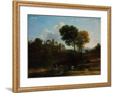 Villa in the Roman Campagna, 1646-1647-Claude Lorraine-Framed Giclee Print