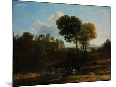 Villa in the Roman Campagna, 1646-1647-Claude Lorraine-Mounted Giclee Print