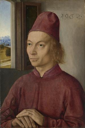Portrait of a Man (Jan Van Winckele), 1462-Dirk Bouts-Framed Giclee Print