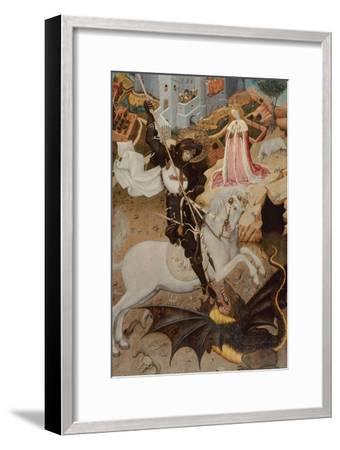 Saint George Killing the Dragon, 1434-1435-Bernat Martorell the Elder-Framed Giclee Print