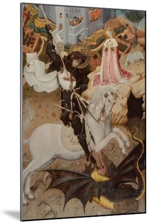 Saint George Killing the Dragon, 1434-1435-Bernat Martorell the Elder-Mounted Giclee Print