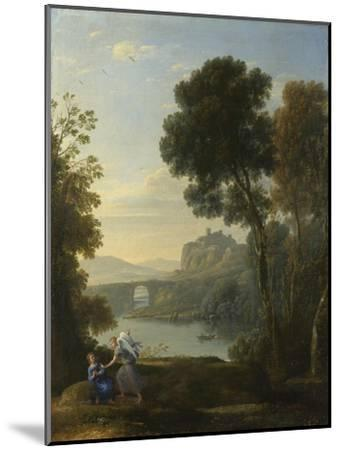Landscape with Hagar and the Angel, 1646-Claude Lorraine-Mounted Giclee Print