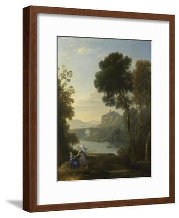 Landscape with Hagar and the Angel, 1646-Claude Lorraine-Framed Giclee Print