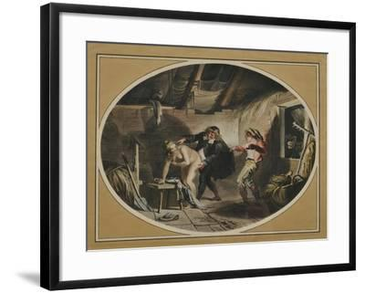 La Jument Du Compère Pierre (After the Poem by Jean De La Fontain), 1800-Johann Heinrich Ramberg-Framed Giclee Print