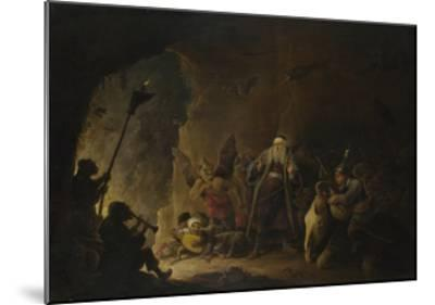 The Rich Man Being Led to Hell, C. 1647-1648-David Teniers the Younger-Mounted Giclee Print