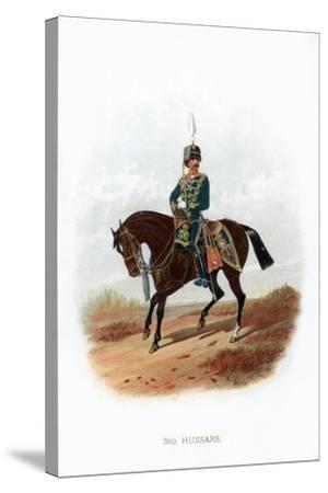 3rd Hussars, 1889--Stretched Canvas Print