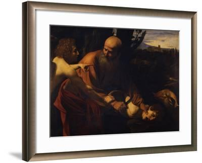 Abraham Sacrificing Isaac, 1603-1604-Caravaggio-Framed Giclee Print