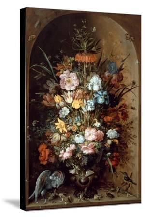 Flower Still Life with Crown Imperial, 1624-Roelant Savery-Stretched Canvas Print