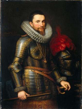 Portrait of Ambrosio Spinola (1569-163), 1609-Michiel Jansz Van Miereveld-Framed Giclee Print