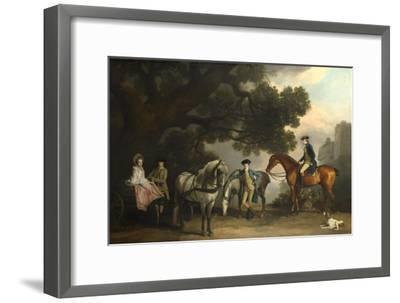 The Milbanke and Melbourne Families, Ca 1769-George Stubbs-Framed Giclee Print