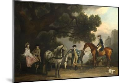 The Milbanke and Melbourne Families, Ca 1769-George Stubbs-Mounted Giclee Print
