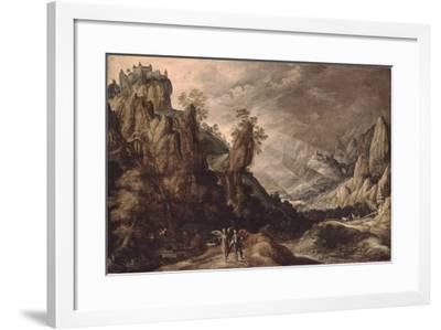 Landscape with Tobias and the Angel-Kerstiaen de Keuninck-Framed Giclee Print