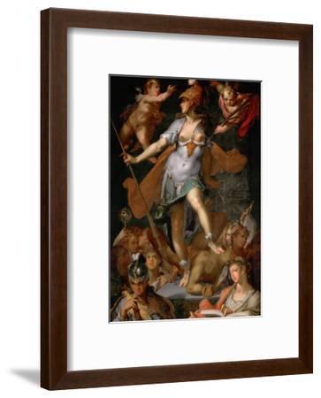 Minerva Victorious over Ignorance, Ca 1591-Bartholomeus Spranger-Framed Giclee Print