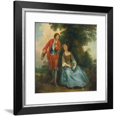 Sleeping Shepherdess, Ca 1730-Nicolas Lancret-Framed Giclee Print