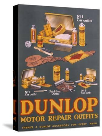 Poster Advertising Dunlop Products--Stretched Canvas Print