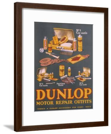Poster Advertising Dunlop Products--Framed Giclee Print