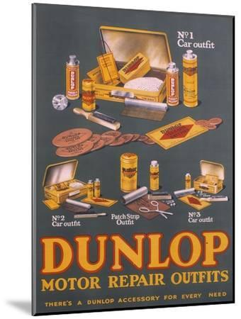 Poster Advertising Dunlop Products--Mounted Giclee Print